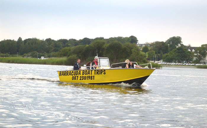 Our power boat can be used for fun trips and relaxing fishing trips